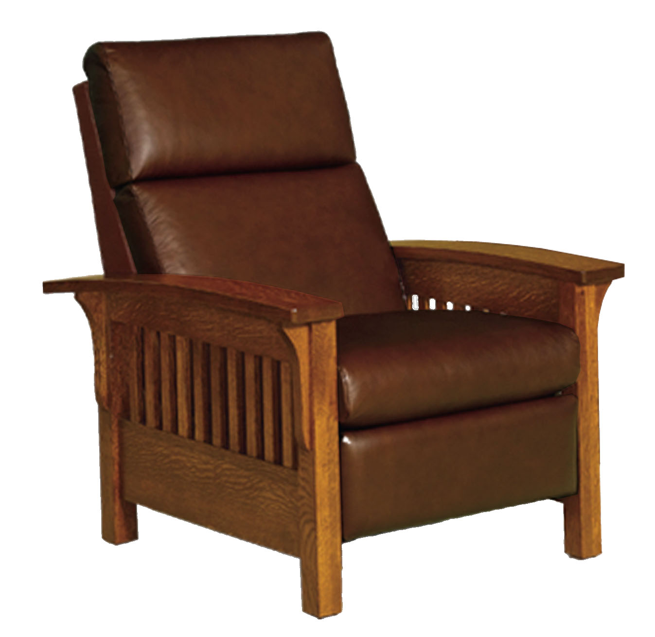 Bon Amish Made   Recliner Has 3 Positions: Upright, Angled Back, Almost Flat.  Availble In Oak, Quarter Sawn Oak, Walnut And Cherry. Fabric Or Leather.