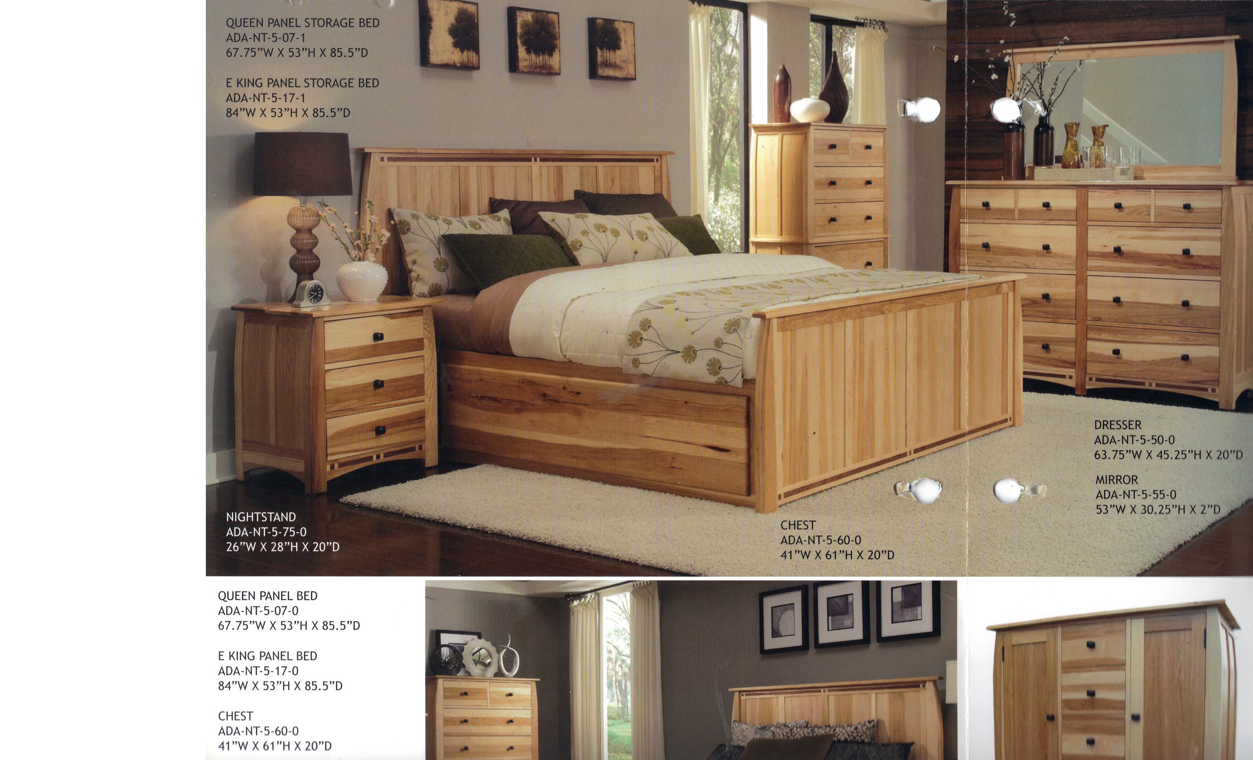 Overview Of 6 Piece Set Includes Panel Bed With Or W/o Storage, Dresser,  Mirror, Double Door Chest, Chest Of Drawers, And Night Stand.